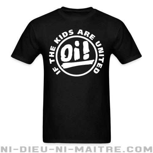 T-shirt standard (unisexe) Oi! if the kids are united  - Skinheads