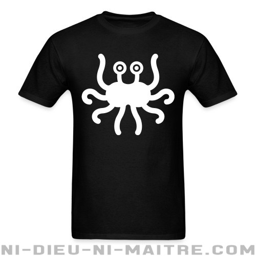 Pastafarian Flying Spaghetti Monster - T-shirt Athé