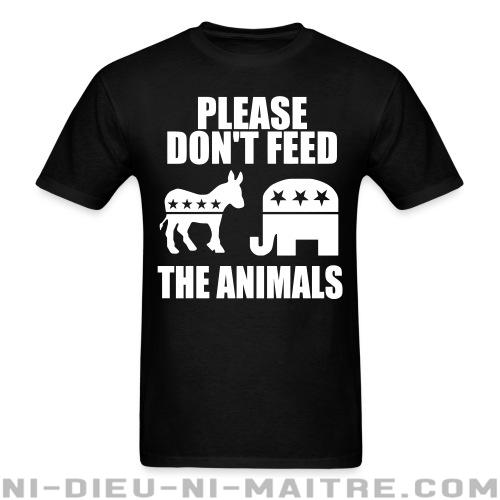 T-shirt standard (unisexe) Please don\'t feed the animals (democrats & republicans) - Humour