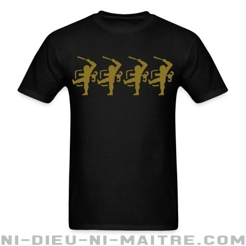 Police officiers are puppets - T-shirt ACAB anti-violence-policiere