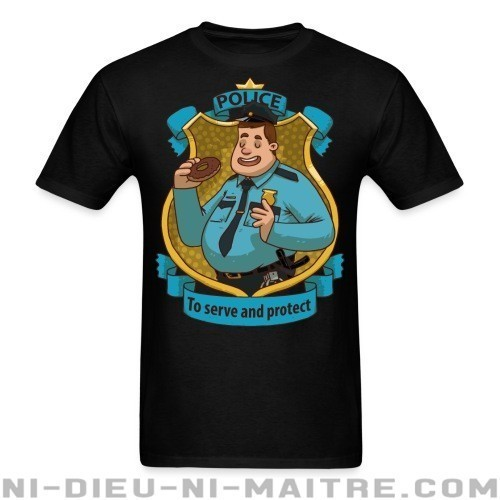 Police / To serve and protect - T-shirt ACAB anti-violence-policiere