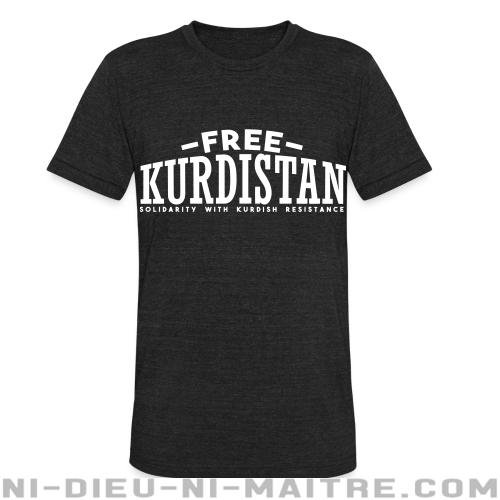 Free Kurdistan! Solidarity with kurdish resistance - T-shirt produit localement Rojava