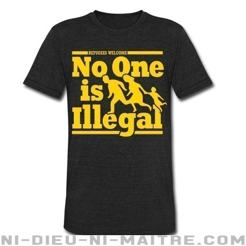 Refugees welcome - no one is illegal - T-shirt produit localement Anti-Fasciste