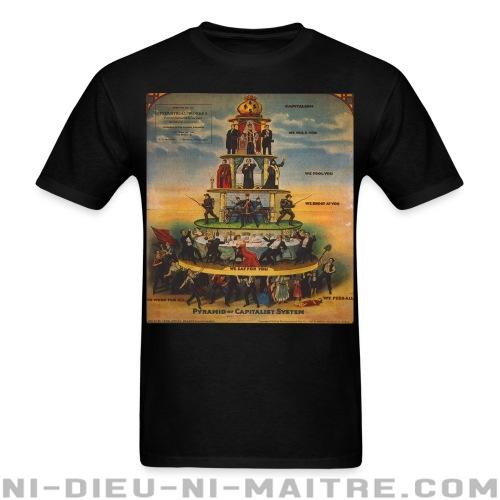 Pyramid of capitalist system - T-shirt Militant