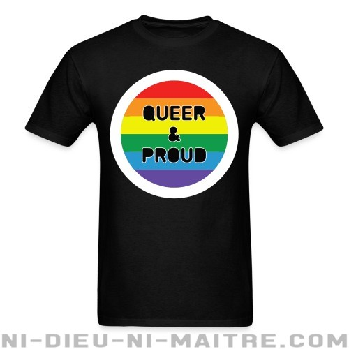 Queer & Proud rainbow flag - LGBTQ+ T-shirt