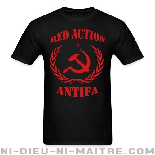 Red action antifa - T-shirt Anti-Fasciste