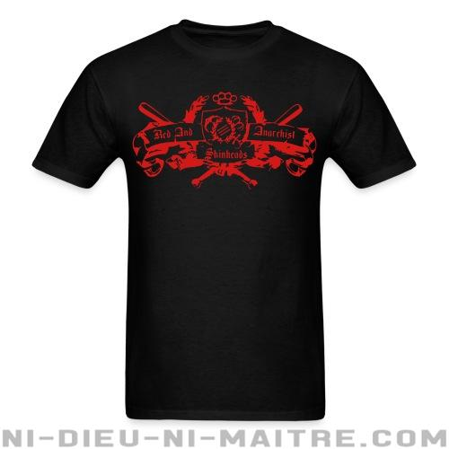 T-shirt standard unisexe Red and anarchist skinheads - Antifa & anti-racisme