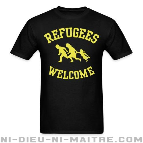 Refugees welcome - T-shirt Anti-Fasciste
