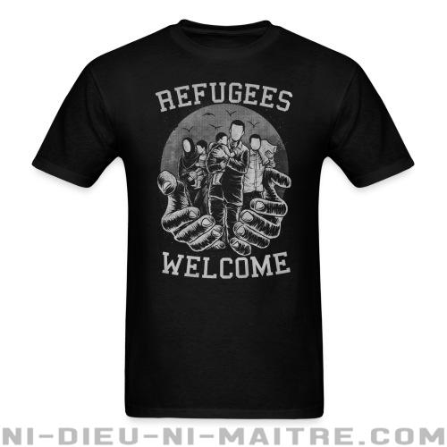 T-shirt standard (unisexe) Refugees Welcome - Contre la guerre