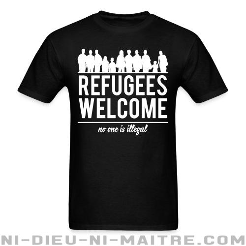 T-shirt standard (unisexe) Refugees welcome - no one is illegal - Contre la guerre