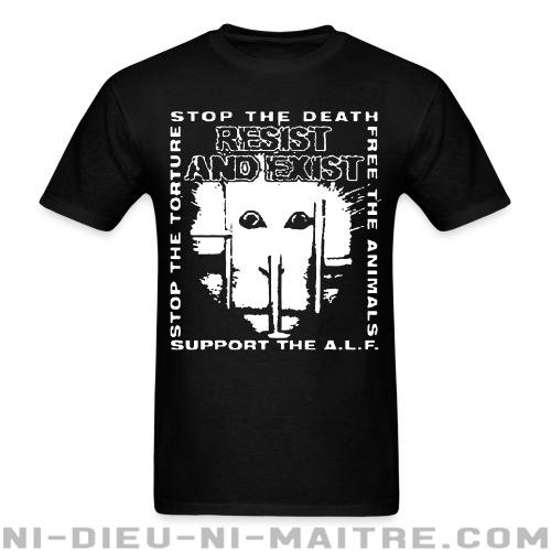 Resist And Exist - Stop the death / free the animals / stop the torture / support the A.L.F. - T-shirt Band Merch