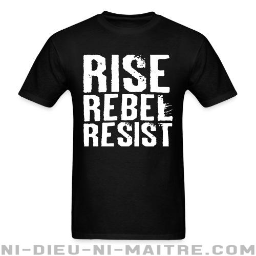 T-shirt ♂ Rise Rebel Resist - Politique & révolution