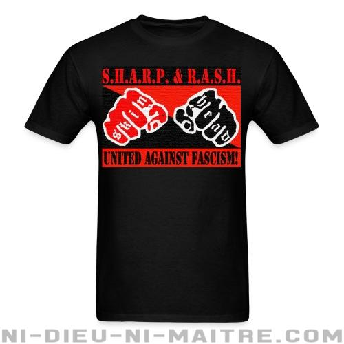 SHARP & RASH united against fascism! - T-shirt Anti-Fasciste