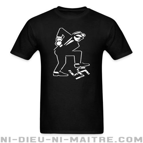 Ska against nazis - T-shirt imprimé au dos Anti-Fasciste