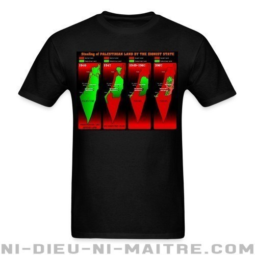 Stealing of Palestinian land by the zionist state - T-shirt anti-guerre