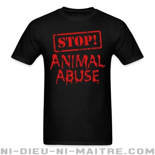 Stop animal abuse - T-shirt véganes et libération animale