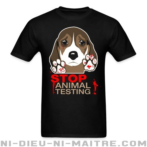 Stop animal testing - T-shirt véganes et libération animale