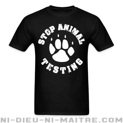 T-shirt standard unisexe Stop animal testing - Vegan & Libération Animale