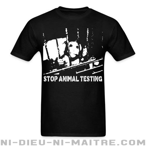T-shirt ♂ Stop animal testing - Libération animale
