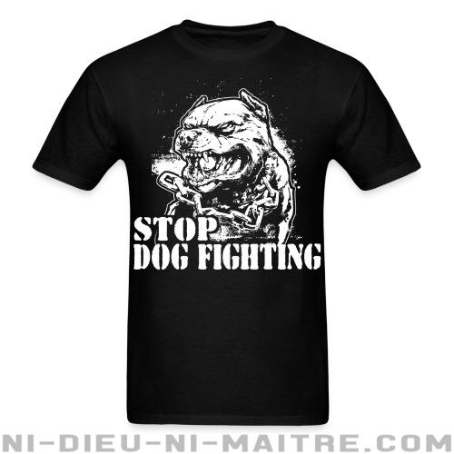 T-shirt standard unisexe Stop dog fighting - Vegan & Libération Animale