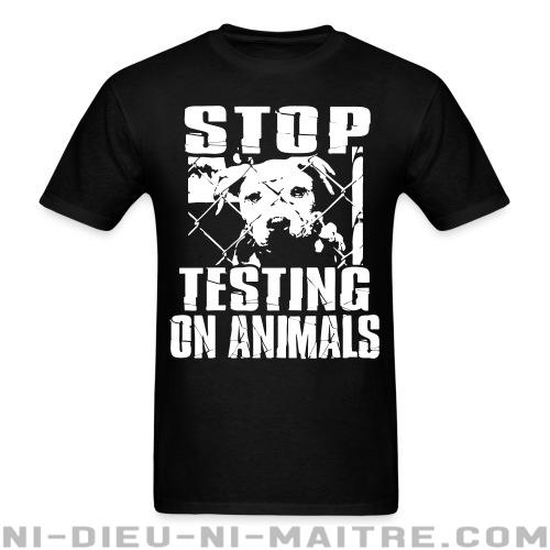 Stop testing on animals - T-shirt véganes et libération animale