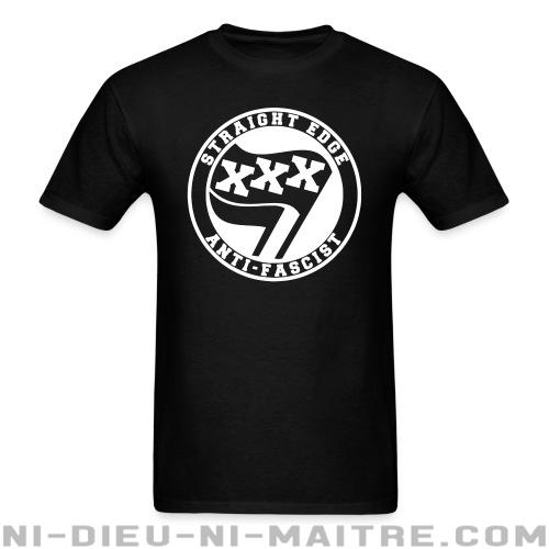 T-shirt standard unisexe Straight edge anti-fascist - Antifa & anti-racisme