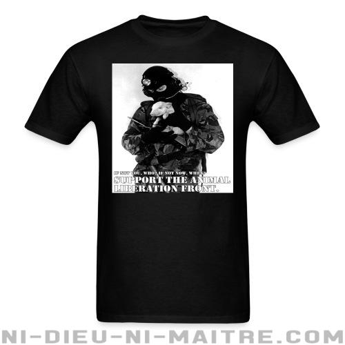 T-shirt ♂ Support the animal liberation front - Libération animale