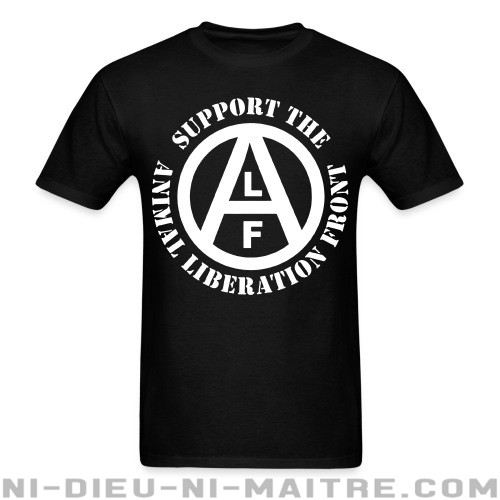 Support the Animal Liberation Front (ALF) - T-shirt véganes et libération animale