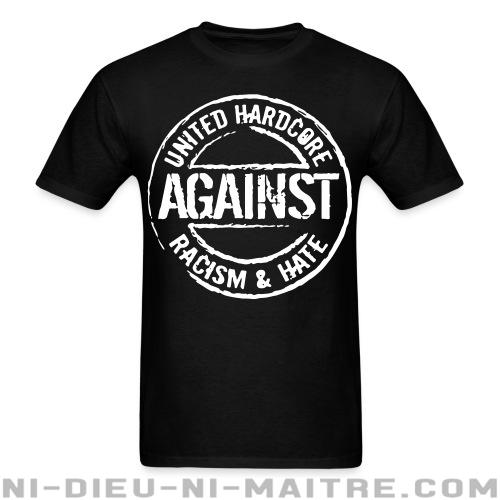 T-shirt ♂ United hardcore against racism & hate - Antifa & Anti-racisme