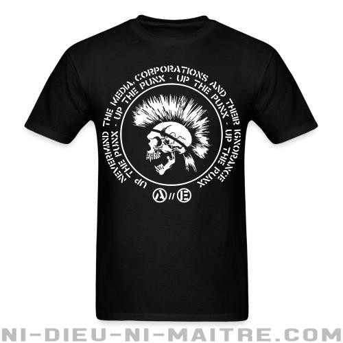 T-shirt avec impression au dos Up the punx - Nevermind the media, corporations and their ignorance - Punk & marginaux