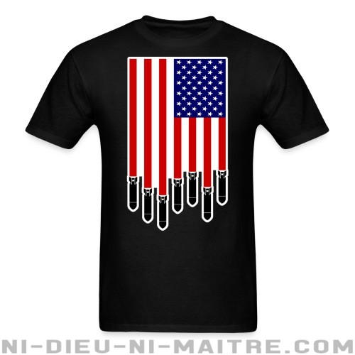 USA Bombs Flag - T-shirt anti-guerre