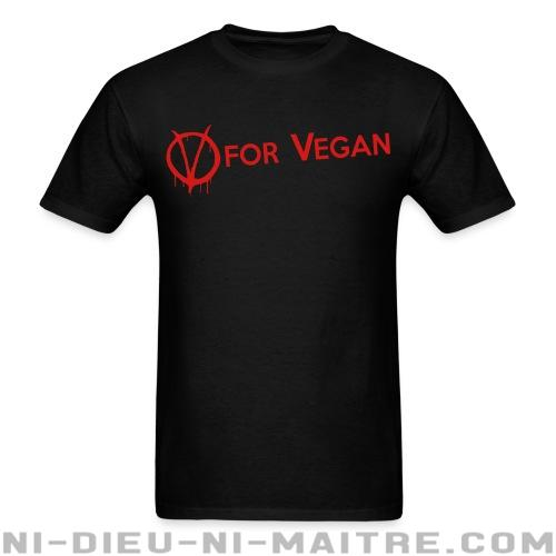 V for Vegan - T-shirt véganes et libération animale