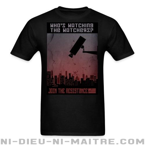 T-shirt standard unisexe Who\'s watching the watchers? Join the resistance - ACAB & abus policiers