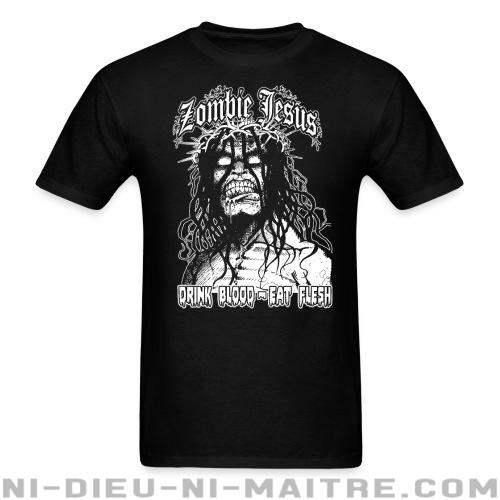 T-shirt ♂ Zombie jesus drink blood eat flesh - Humour