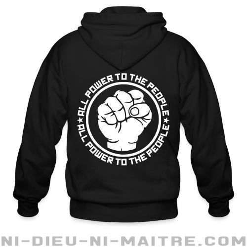 All power to the people - Sweat zippé Militant