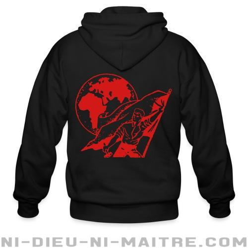 International Workers Association (IWA) - Association Internationale des Travailleurs (AIT) - Sweat zippé Militant