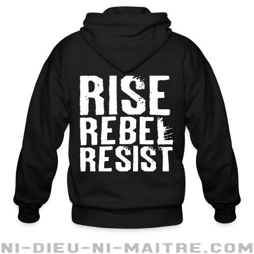 Hoodie à fermeture éclair Rise Rebel Resist - Zip Hoodies Militants