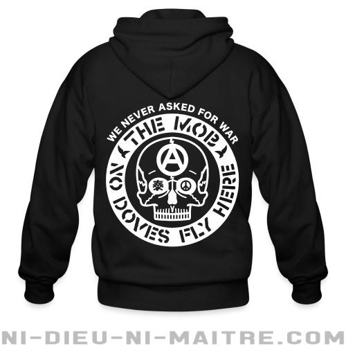 Hoodie à fermeture éclair The Mob - No doves fly here / We never asked for war -
