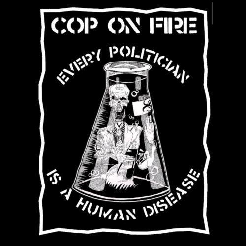 cop on fire