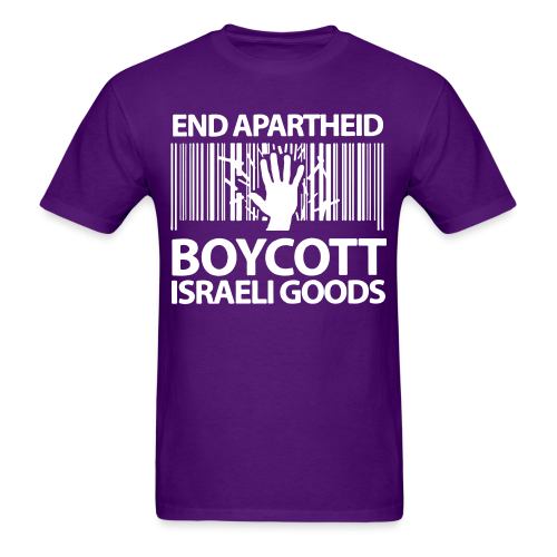 End apartheid boycott Israeli goods