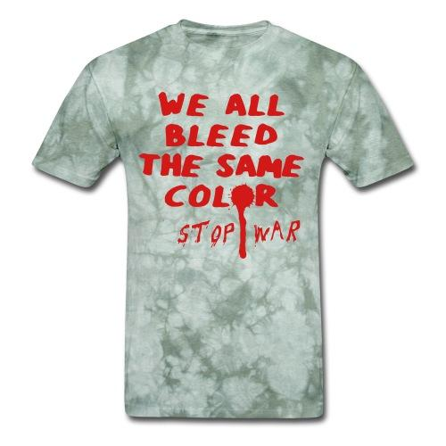 We all bleed the same color - stop war